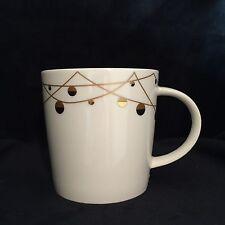 Starbucks 2012 Bone China Holiday Gold Balls 14 Oz Coffee Mug Cup