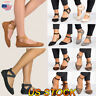 Women Ballet Sandals Shoes Slip On Dance Shoes Ankle Strap Flat Casual Loafers