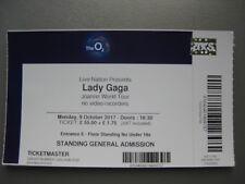 LADY GAGA  O2 LONDON  09/10/2017 OLD TICKET STUB