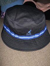 NWT Men's Sample Kangol Stripe  Bucket Hat Black Blue Sz S 100% Cotton