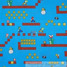 BonEful Fabric Cotton Quilt America Super Mario Brothers Nintendo Game Boy SCRAP
