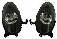 Black clear finish H4 headlights front lights for Nissan Micra K12 03-05