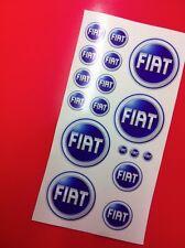 17 Adhesivos Etiqueta engomada Fiat varios tamaños 2001 > 2006
