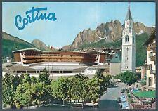 BELLUNO CORTINA 83 STADIO del GHIACCIO SPORT INVERNALI Cartolina viaggiata