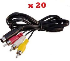 20 X Wholesale Lot Of Audio Video A/V Cables For Sega Genesis 2 & 3 New