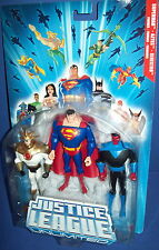JLU  Justice Leagure Unlimited 3 Figure SUPERMAN - AZTEK - SINESTRO NIB MOC