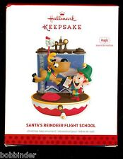 HALLMARK SANTA'S REINDEER FLIGHT SCHOOL MAGIC CHRISTMAS ORNAMENT 2013 NIB