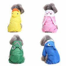 Pet Dog Waterproof Raincoat Double Base Windproof Jacket Hooded Outdoor Outwear