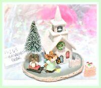 ❤️Wee Forest Folk M-263 A Midnight Clear Christmas Tree Church Chapel WFF❤️