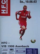 Programm 2003/04 HFC Hallescher FC - VfB Auerbach
