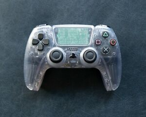 Sony Playstation 5 Dualsense PS5 Crystal Clear Custom Wireless Controller New