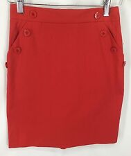 Birch Brothers Red Skirt Womens Size M Vintage See Measurement Photos NWT