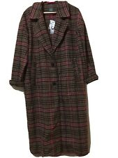 Wild Fable Plaid Trench Coat With Pockets Medium!