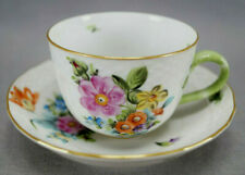 Herend Hungary Hand Painted Printemps Pattern Demitasse Cup & Saucer