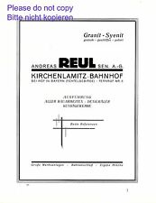 Granit Reul Kirchenlamitz XL Reklame 1928 Syenit Werbung Bahnhof Fichtelgebirge