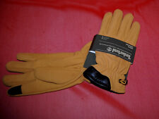 NWT TIMBERLAND mens Touch Screen Technology Brown/Wheat Leather gloves XL