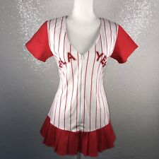 Player 69 Women's Costume Lingerie Red White Baseball Cheer Dress Halloween