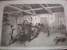 Fabbricazione ATLANTIC Telegraph Cavo Vetro Elliott Co EAST Greenwich 1857 stampe