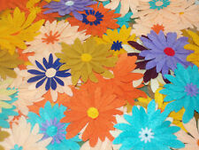 Large Felt Flower Die Cuts, Felt Flowers, Flower Embellishments (PACK OF 10)