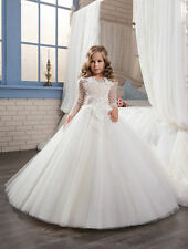 Princess First Communion Dresses Flower Girl Dresses Kids Wedding Birthday Gown