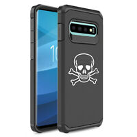 For Samsung Galaxy Shockproof Protective Hard Case Cover Skull Crossbones