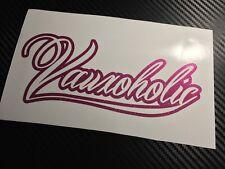 PINK FLAKE Vauxoholic Car Sticker Decal Funny Vauxhall VXR GTC Corsa Astra
