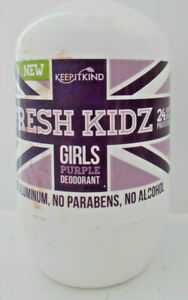 Fresh Kidz Roll On Deodorant  For Girls Age 8+ No Parabens 1.86 oz