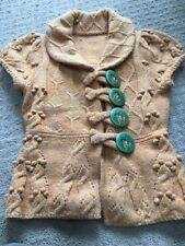 Anthro ANTHROPOLOGIE Leifsdottir Sylvan Scene Big Button Cardigan Sweater S $188