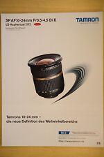 TAMRON Datenblatt Prospekt 3,5-4,5/10-24 Di II APS-C, Klappblatt 4 Seiten, 2008