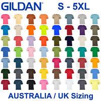 Gildan Blank Plain Basic T Shirt Tshirt Tee Top Small Big Men Heavy Cotton G5000