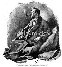 Sherlock Holmes The Man With the Twisted Lip Strand 1891, Print 7x5 Inch Reprint