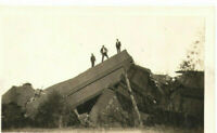 6 VINTAGE 1920s TRAIN WRECK PHOTOS! ROCK ISLAND! ORIGINAL SNAPSHOT PHOTOGRAPHS!