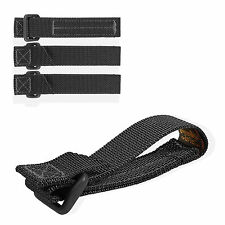 """Maxpedition 3"""" Black TacTie Straps Pack Of Four 9903B"""
