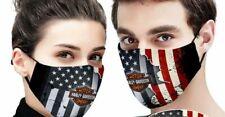 Harley Davidson american flag face mask