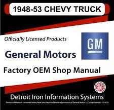 1948 1949 1950 1951 1952 1953 Chevrolet Trucks Shop Manuals & Parts Books Cd