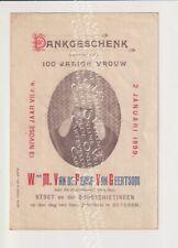 Oud Pamfletje Dankgeschenk Beveren Waas 100-jarige Van de Perre Van Geertsom