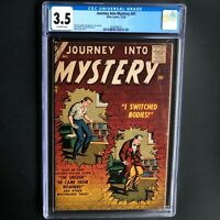 JOURNEY INTO MYSTERY #41 (Atlas 1956) 💥 CGC 3.5 OW 💥 ONLY 19 in CENSUS!