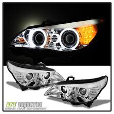 2004-2007 BMW E60 E61 525i 530i 545i CCFL Headlights w/ LED Signal HID-D2S Model