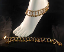 Golden Anklet/Payal,Stunning Fashion jewellery,Bollywood style,RJ23-602