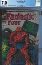 CGC 7.0 FANTASTIC FOUR #51 O/W TO WHITE PAGES CLASSIC JACK KIRBY THING COVER
