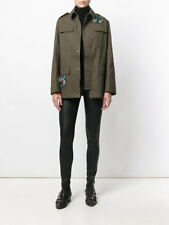 NWT RED VALENTINO Falcon Embroidered Green Jacket, Size 44, US 8