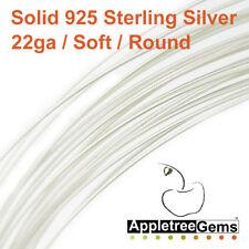 5 Feet Sterling Silver Wire 22ga Round - 22 gauge - Dead Soft- Solid 925 Silver