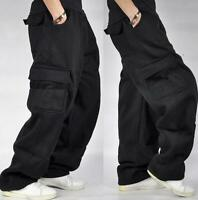 Mens L-5XL Cargo Baggy Hip Hop Long Pants Trousers Athletic Sweatpants Size hot