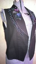 NWOT Gorgeous WANTED by Beads rodeo western bead sequins vest woman's size S