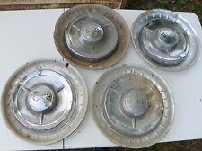 1958 IMPALA HUP CAPS & ACCESSORY TRIM RINGS VERY RARE 8 PIECE SET