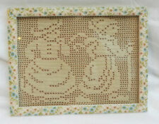 Framed Vintage Lace Picture - Winter Theme - Lovely Piece (3)