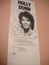 HOLLY DUNN hottest new female country music Original 1988 music biz image/text