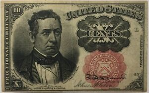 1874 10 Cent Fractional Currency United States Paper Money Note 10c