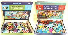 Two Crocodile Creek Puzzles: Discover Europe & Discover America - Preowned