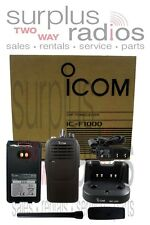 New Icom F1000 RC 5W 16CH VHF 136-174MHZ Radio Police Fire HAM Submersible